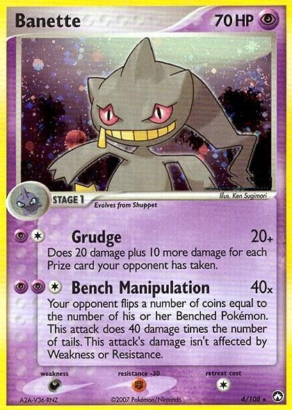 Pokemon Ex: Power Keepers - Banette - 004/108*U - Used Holo Rare card