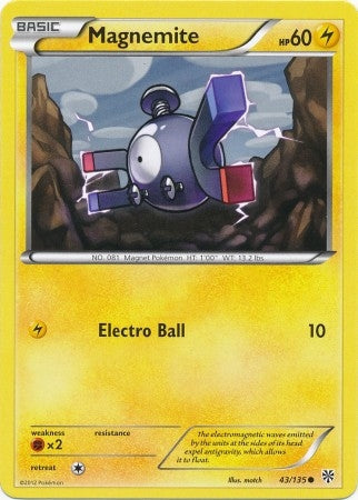Pokemon Plasma Storm - Magnemite - 043/135*U - As New Common card