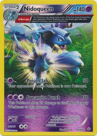 Pokemon XY Primal Clash - Nidoqueen - 069/160*U - Used Reverse Holo card