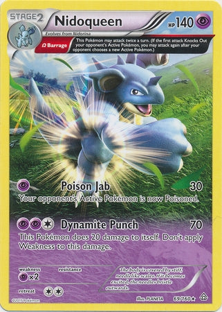 Pokemon XY Primal Clash - Nidoqueen - 069/160*U - Used Rare card