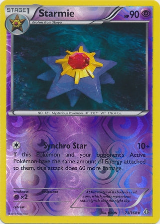 Pokemon XY Primal Clash - Starmie - 073/160*U - Used Reverse Holo card