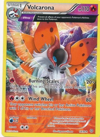 Pokemon XY Ancient Origins - Volcarona - 018/98*U - Used Rare card