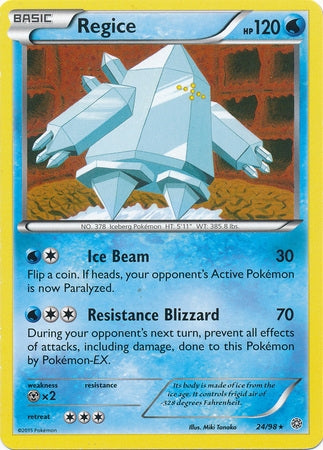 Pokemon XY Ancient Origins - Regice - 024/98*U - Used Rare card