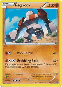 Pokemon XY Ancient Origins - Regirock - 040/98*U - Used Rare card