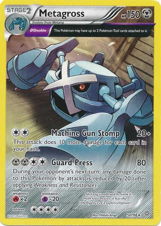 Pokemon XY Ancient Origins - Metagross - 050/98*U - Used Rare card