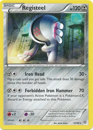 Pokemon XY Ancient Origins - Registeel - 051/98*U - Used Rare card