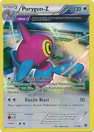 Pokemon XY Ancient Origins - Porygon-Z - 067/98*U - Used Holo Rare card