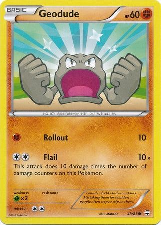 Pokemon Generations - Geodude - 043/83*U - As New Common card