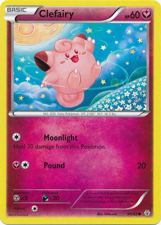 Pokemon Generations - Clefairy - 050/83*U - As New Common card