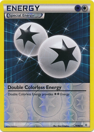Pokemon Generations - Double Colorless Energy - 074/83*U - Used Reverse Holo card