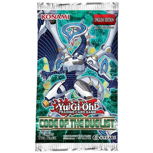 Yu-Gi-Oh Code of the Duelist - 1 Booster Packet - - New Booster Packet