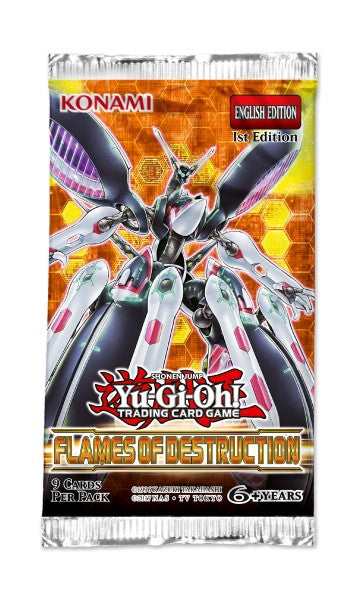 Yu-Gi-Oh Flames of Destruction - 1 Booster Packet - - New Booster Packet