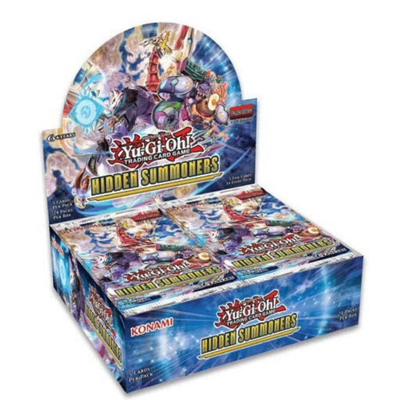 Yu-Gi-Oh FACTORY SEALED Booster Box - Hidden Summoners - New Booster Box