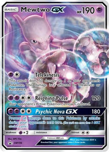 Pokemon Sun and Moon Promo - Mewtwo GX - SM196 - Promo card