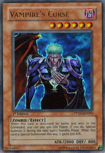 Yu-Gi-Oh Phantom Darkness - Vampire's Curse - PTDN-EN090 - Used Ultimate Rare card