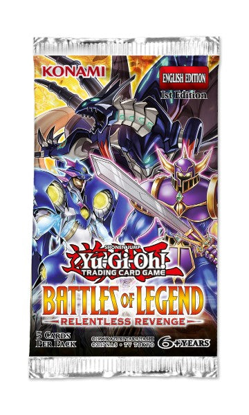 Yu-Gi-Oh Battles of Legend Relentless Revenge - 1 Booster Packet - New Booster Packet