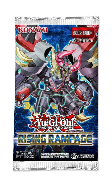 Yu-Gi-Oh Rising Rampage - 1 Booster Packet - 1st Edition