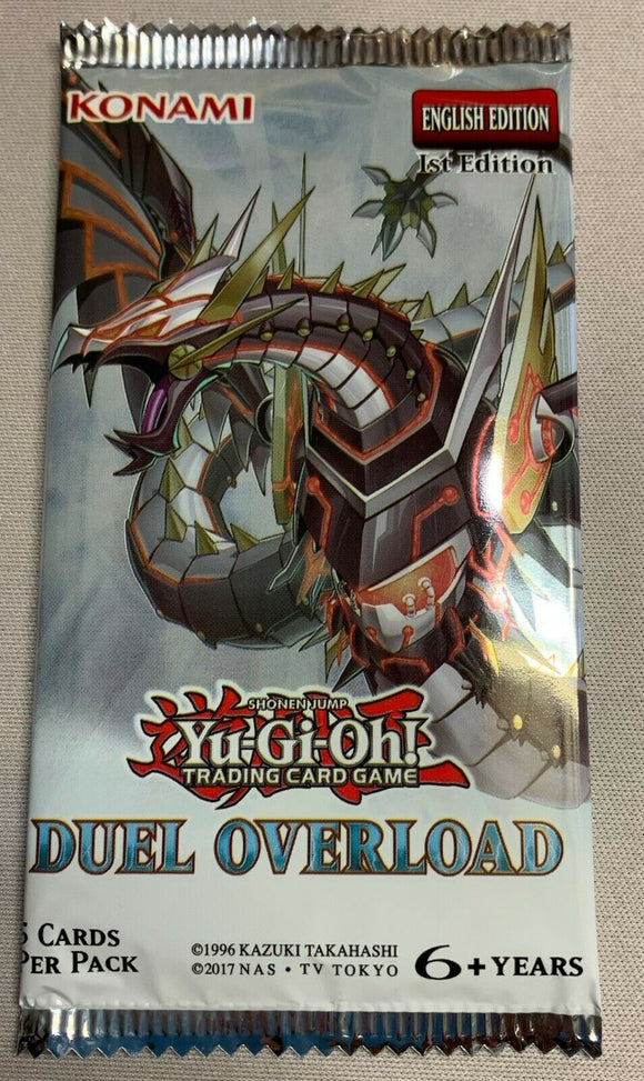 Yu-Gi-Oh Duel Overload - 1 Booster Packet - New Booster Packet