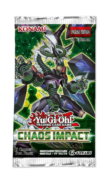 Yu-Gi-Oh Chaos Impact - 1 Booster Packet - New Booster Packet