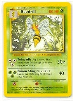 Pokemon Base 1 - Beedrill - 017/102 - As New Rare card