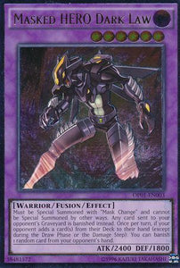 Yu-Gi-Oh - OTS Tournament Pack 1 - Masked Hero Dark Law - OP01-EN003 - Used Ultimate Rare card
