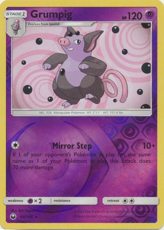 Pokemon Celestial Storm - Grumpig - 60/168 - As New Reverse Holo card