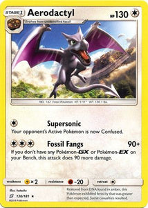 Pokemon Team-Up - Aerodactyl - 130/181 - Used Rare card