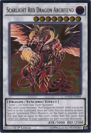 Yu-Gi-Oh - Dimension of Chaos - Scarlight Red Dragon Archfiend - DOCS-EN046 - Used Ultimate Rare card