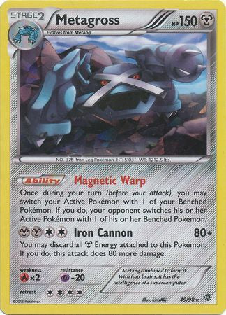 Pokemon XY Ancient Origins - Metagross - 049/98*U - As New Theme Deck Rare card