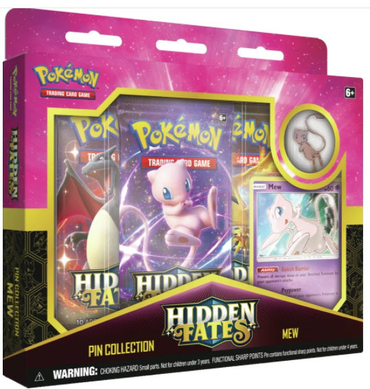 Pokemon Hidden Fates Pin Collection - Mew - New Collectors Box *LIMIT 1*