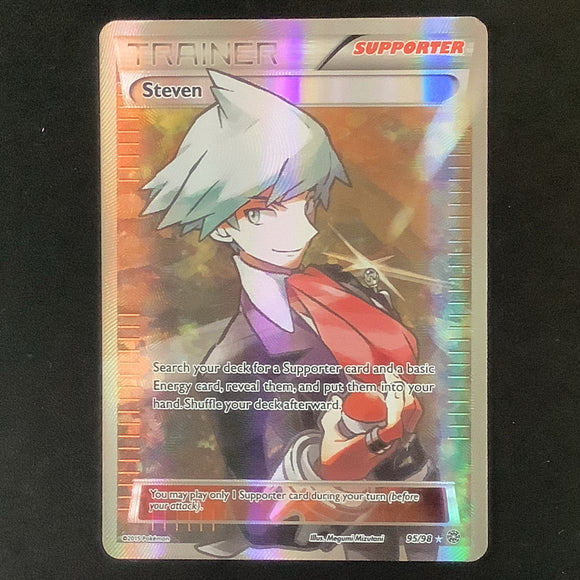Pokemon XY Ancient Origins - Steven - 095/98*U - Used Ultra Rare card