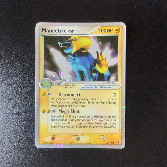 Pokemon Ex: Deoxys - Manectric Ex - 101/107*U-010994 - Used Ex Rare card