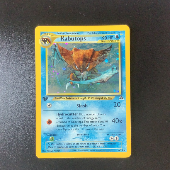 Pokemon Neo Discovery - Kabutops - 006/75 (1st Edition) - Used Holo Rare card