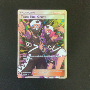 Pokemon Sun and Moon - Team Skull Grunt - 149/149 - Holo Rare card