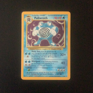 Pokemon Base 1 - Poliwrath - 013/102*U - Used Holo Rare card