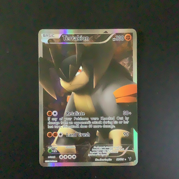 Pokemon Noble Victories - Terrakion - 099/101 - As New  Holo Rare card