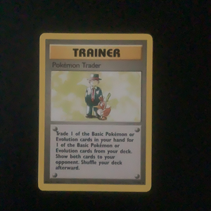 Pokemon Base 1 - Pokemon Trader - 077/102*u - Used Rare card