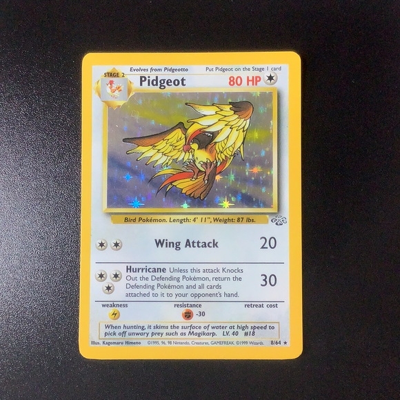 Pokemon Jungle - Pidgeot - 008/64*U - Used Holo Rare card