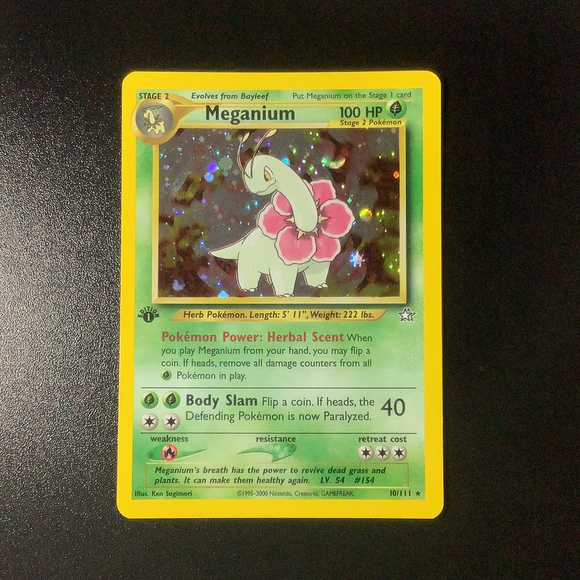 Pokemon Neo Genesis - Meganium  (1st Edition) - 010/111-011284 - New Holo Rare card