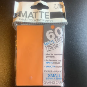 Deck Protector Sleeves - Orange PRO MATTE (Small) x 60