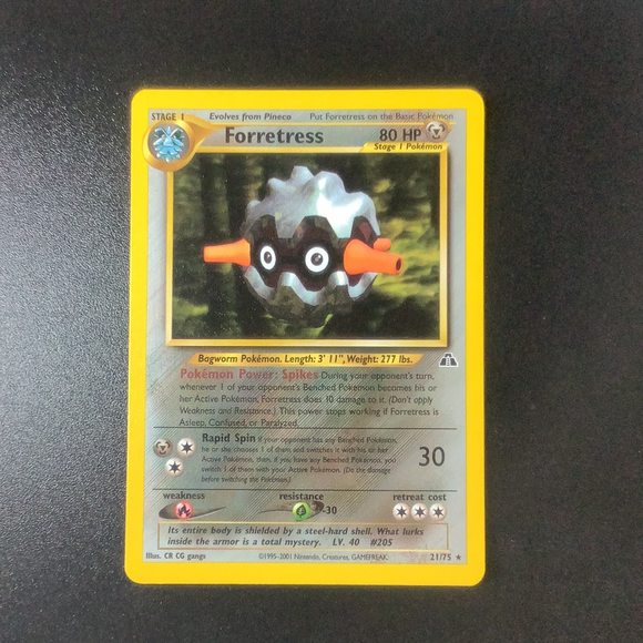 Pokemon Neo Discovery - Forretress - 021/75*U - Used Rare card