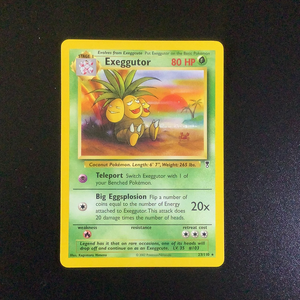 Pokemon Legendary Collection - Exeggutor - 023/110 - As New Rare card