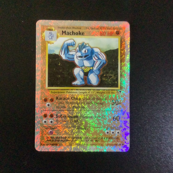 Pokemon Legendary Collection - Machoke - 051/110-011414 - As New Reverse Holo card