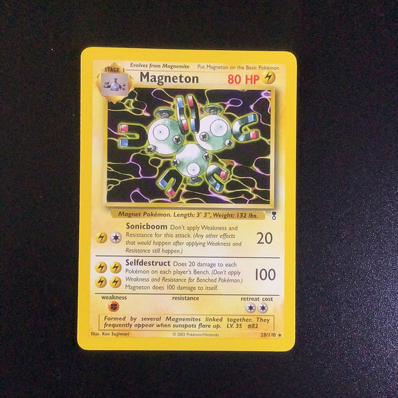 Pokemon Legendary Collection - Magneton - 028/110 - Used Rare card