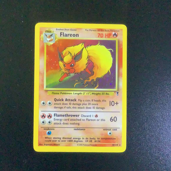 Pokemon Legendary Collection - Flareon - 010/110-011413 - New Holo Rare card