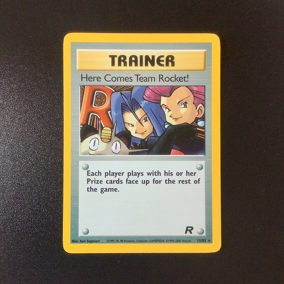 Pokemon Team Rocket - Here Comes Team Rocket! - 015/82 - Rare card