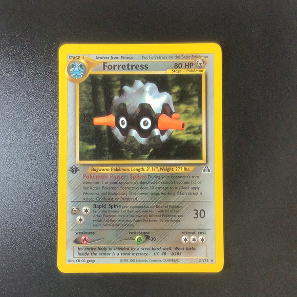 Pokemon Neo Discovery - Forretress  (1st Edition) - 21/75 -  Rare card