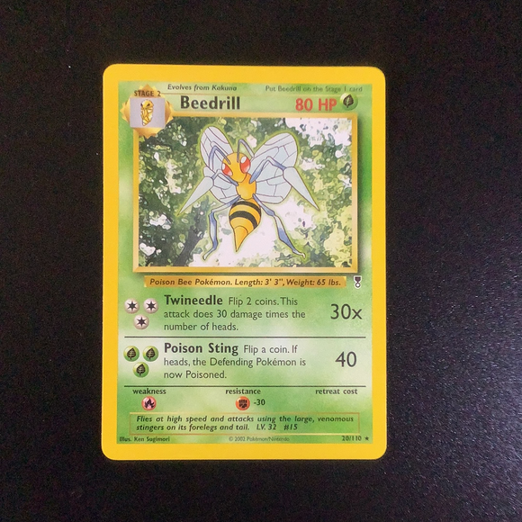 Pokemon Legendary Collection - Beedrill - 020/110 - As New Rare card