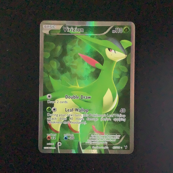 Pokemon Noble Victories - Virizion - 097/101 - As New  Holo Rare card