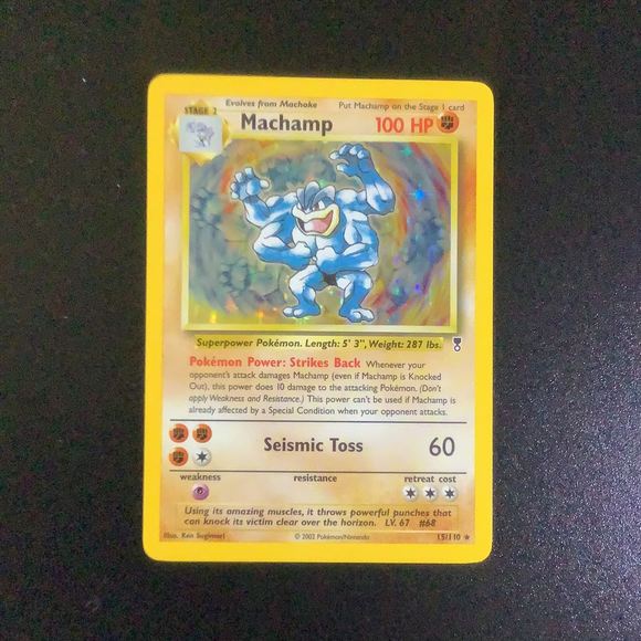 Pokemon Legendary Collection - Machamp - 015/110-011420 - New Holo Rare card